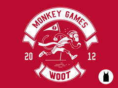 2012 Woot Monkey Games Tank Top - Red