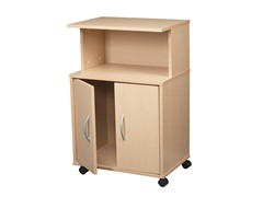 Roll Away Utility Cart w/Hutch & Casters