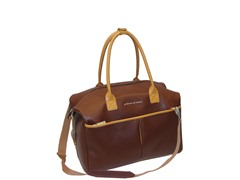 Saffiano Collection Duffle-Brown