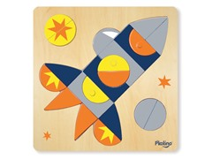 Multi-Solution Shape Puzzle - Spaceship