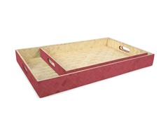 Core Bamboo 2-Piece Bamboo Tray Set