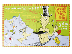 Green Eggs & Ham Floor Puzzle