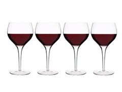 Michelangleo 17oz Burgundy - Set of 4