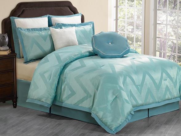 Behrakis 8pc Comforter Set Teal King