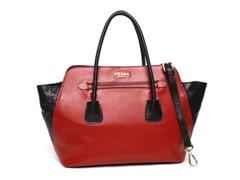Prada Bicolor Soft Calfskin Tote Bag