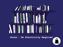 Books - No Electricity Required Tote
