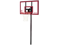 "Spalding Inground 44"" Polycarbonate Basketball System"