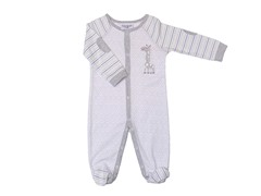 Grey Geo Giraffe Sleeper (0-9M)