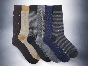 6 Pack Dress Socks