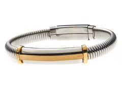 14k Gold Plated Stainless Steel Bangle