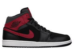 Jordan 1 Mid - Black/Red