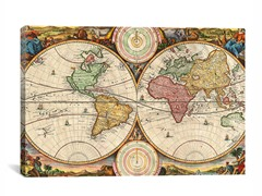 Map of the World ca 1730 26x18