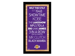 "Los Angeles Lakers 9.5"" x 19"" Sign"