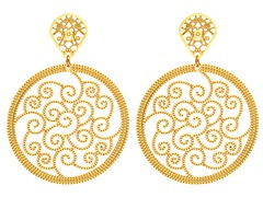 18kt Gold Plated Wave Earrings