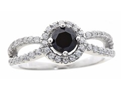 Black Simulated Diamond Ring