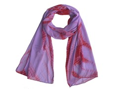 Tie Dye Wrap Purple & Hot Pink