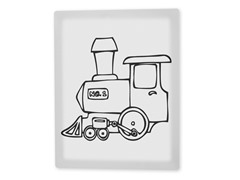 Choo Choo Train Coloring Canvas