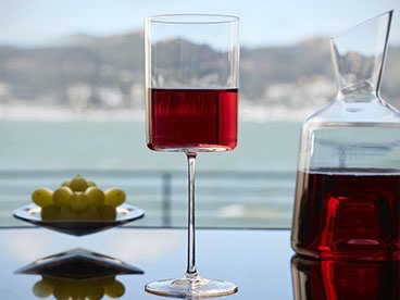 Ultima Modern Burgundy Wine Glasses