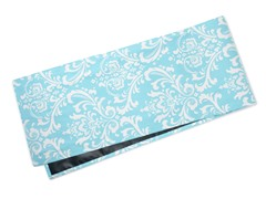 Large Damask Table Runner-Aqua