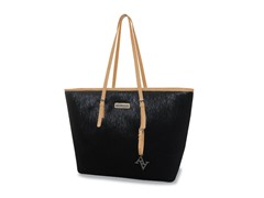 "15"" East West Laptop Tote - Black/Tan"