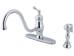 8-Inch Faucet with Sprayer, Chrome