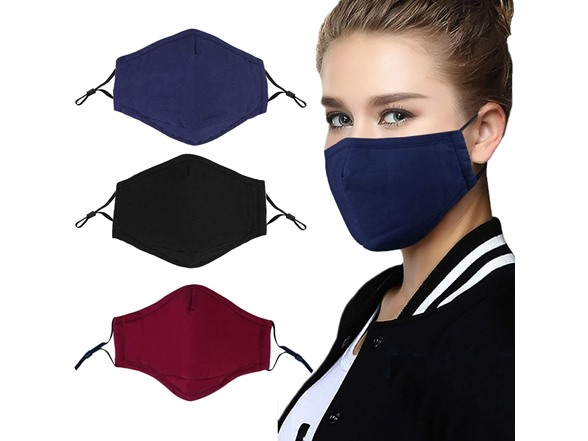 Image of Reusable Cotton Face Masks (variety 3-pack)