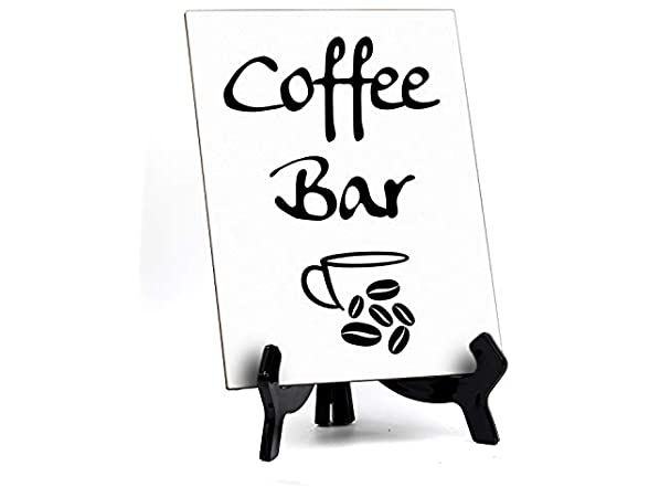 Signs Bylita Coffee Bar Table Sign