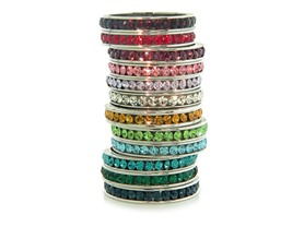Crystal Birthstone Eternity Band- Pick Month, Pick Size