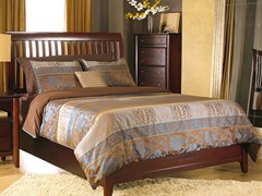City II Cal King Rake Storage Bed in Coco