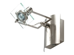 1-Light Satin Wall Sconce, Clear
