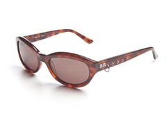 Tortoise Sunglasses w/ Loop, Brown Lens