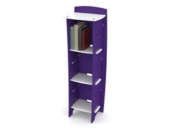 Purple & White 3-Shelf Bookcase
