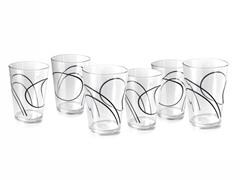 Corelle 8oz Acrylic Square Glass 6pcs