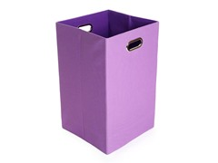 Purple Canvas Folding Laundry Bin