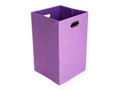 Purple Canvas Folding Laundry Bin