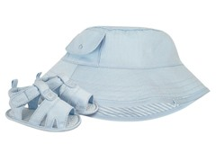 Blue Rain Hat & Sandals (Infant 1-3)