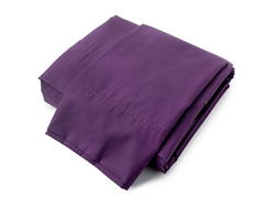 380TC Percale Sheet Set - Plum - Queen