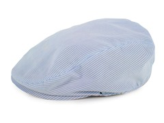 Blue Stripe Newsboy Cap (0/6M-2T)