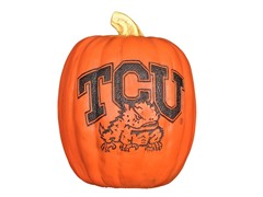 Resin Pumpkin - TCU