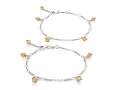 Citrine Bracelet & Anklet Set