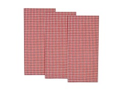 Nantucket Check Dishtowel Set-Red