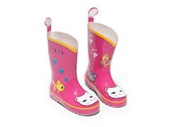Lucky Cat Rain Boots sz 8
