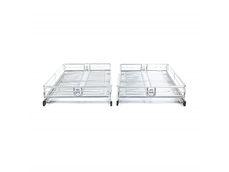 Origami Two Pack Sliding Drawers, Silver