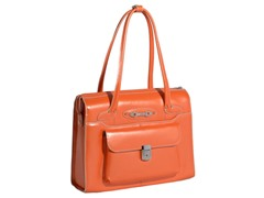 Wenonah Leather Ladies Briefcase - Orange