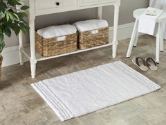 "White 20""x34"" Bath Rugs - Set of 2"