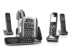 DECT 6.0 4-Handset System w/Link-to-Cell