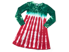 Womens Long Sleeve Dress - Peppermint