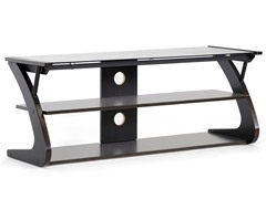 Baxton Sculpten TV Stand w/Glass Shelves