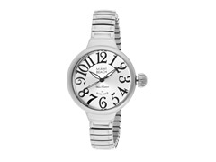 Polished Stainless Steel Round Watch