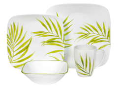 Square Bamboo Leaf 16pc Set